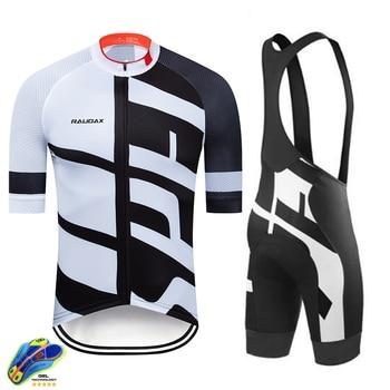 Terno de ciclismo masculino, camiseta de manga curta para mtb, com moletom, respirável, para o verão, roupa de ciclismo 19d, novo, 2020 1