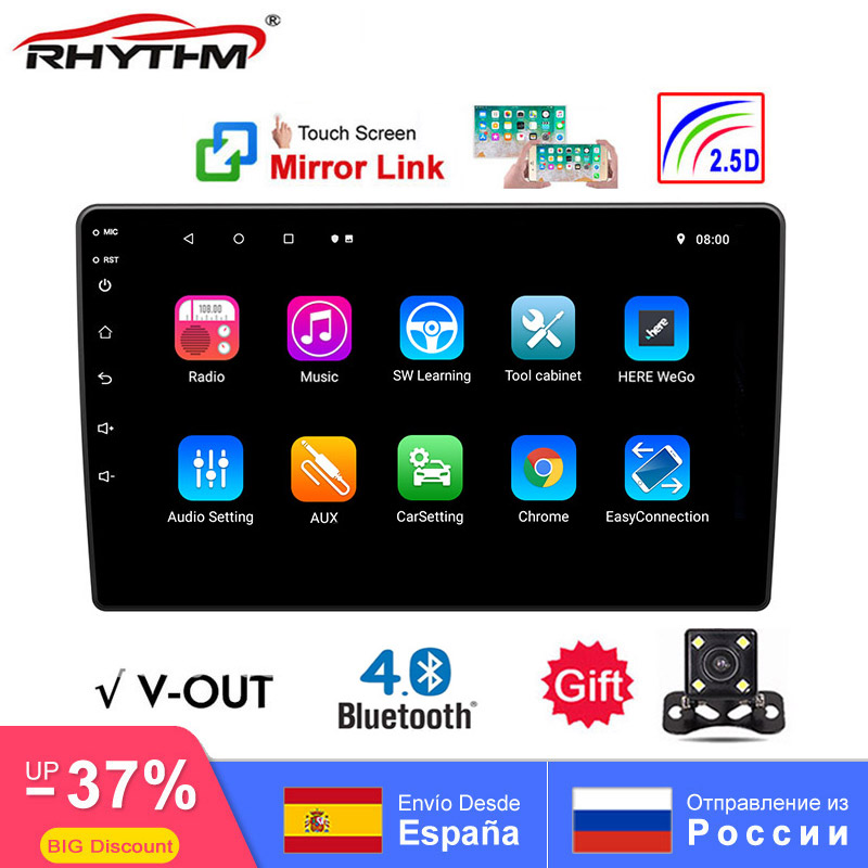 2.5D Universal DAB Car Radio 9 10 Inch Android 8.1 GPS Navigation 2Din Multimedia DVD Player Bluetooth WIFI FM Mirror Link V-OUT