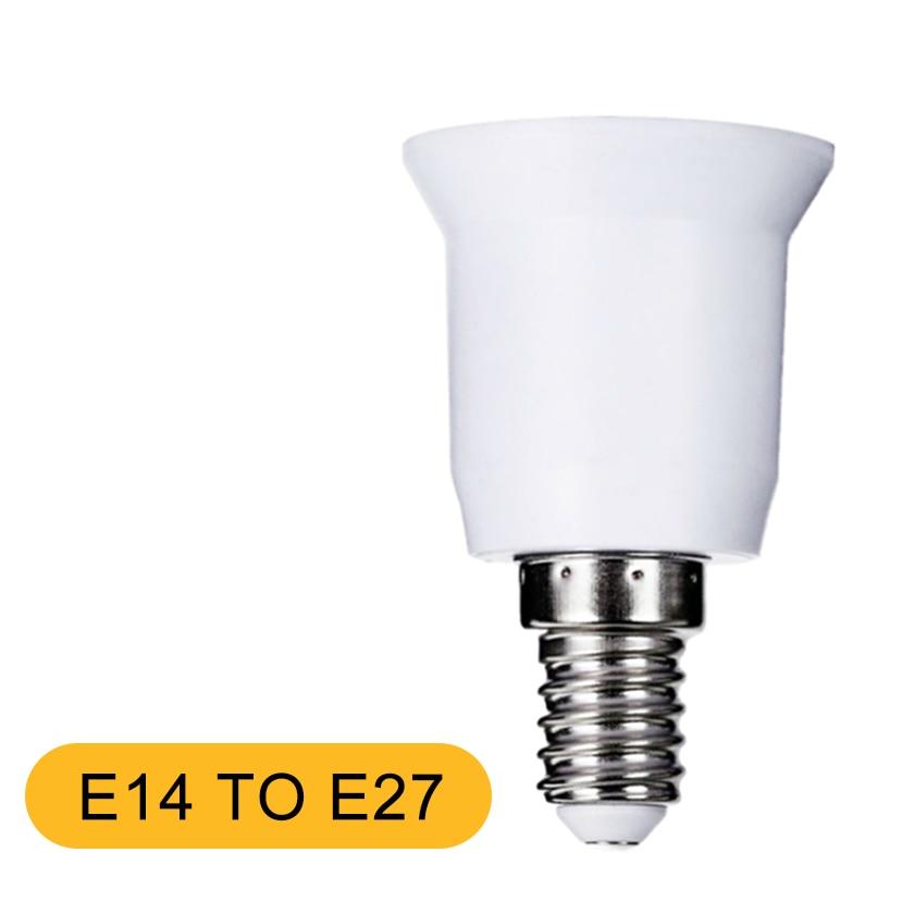 E14 To E27 LED Lamp Base Bulb Socket With Light Holder Converters PC+ Aluminum White Household Lighting Accessories