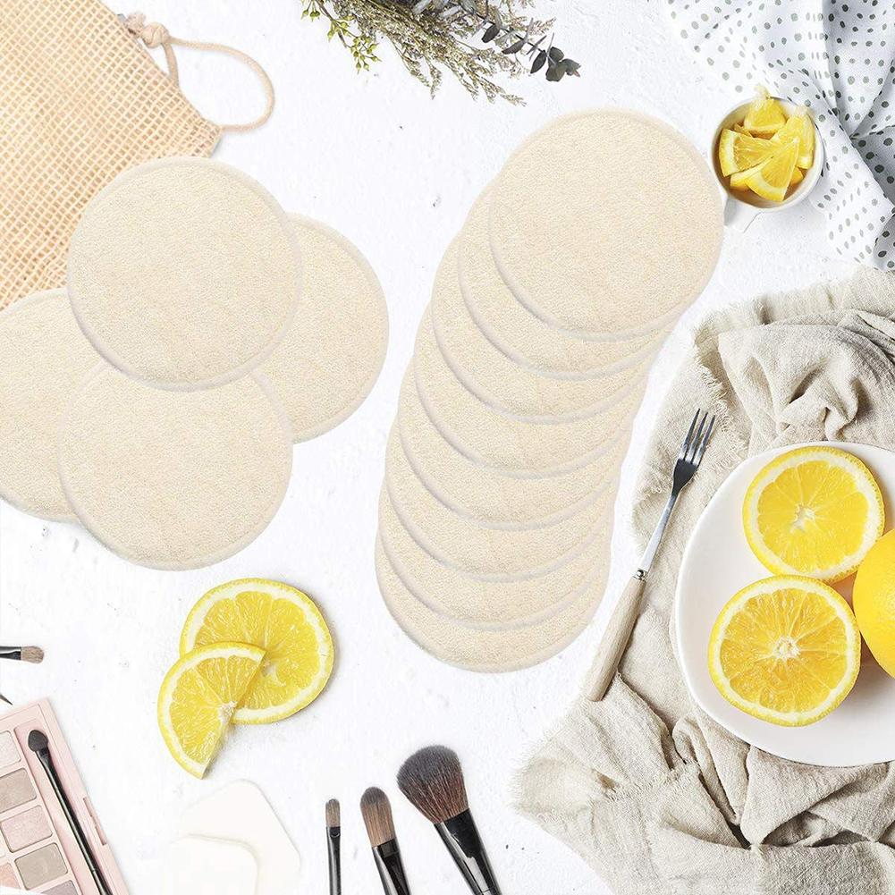 12Pcs/Set Reusable Washable Round Cotton Cloth Facial Makeup Remover Puff Pads With Laundry Bag Wipes Face/Eye/Lip Clean Facial