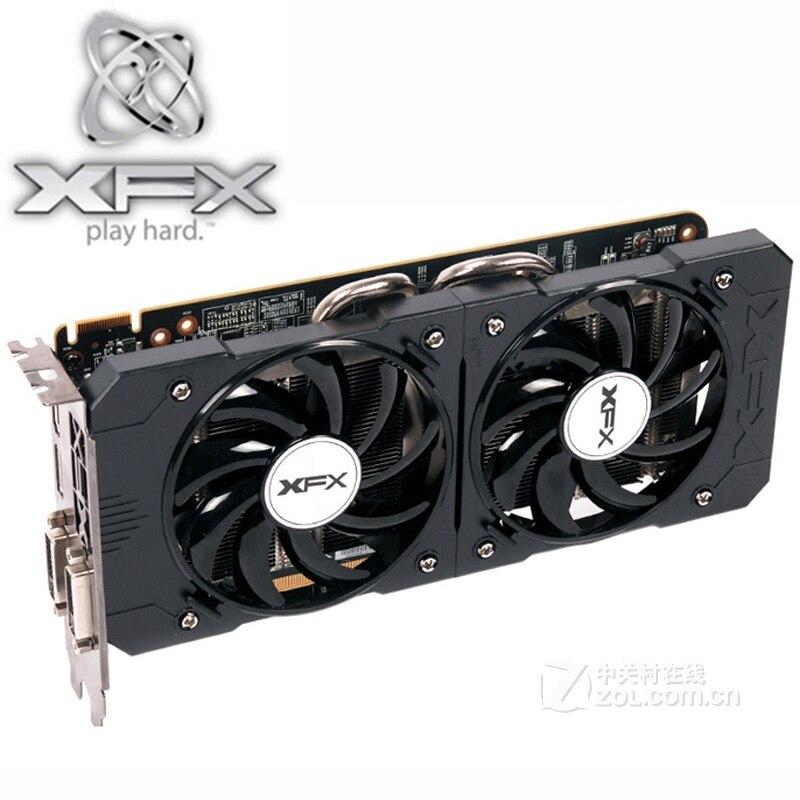 Видеокарта XFX R9 370 2 Гб, 256Bit GDDR5 для AMD R9 300 серии карт R9370 2 Гб HDMI DVI Radeon R9 370 1024SP, б/у-2