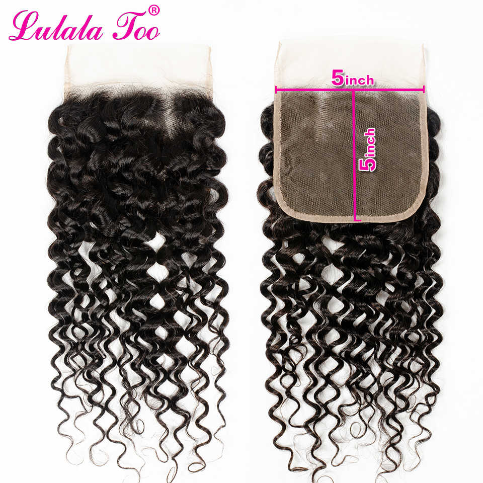 Brazilian 5x5 Water Wave Closure 100% Human Hair Swiss Lace Closure Remy 13x4 Water Wave Frontal Lulalatoo Hair