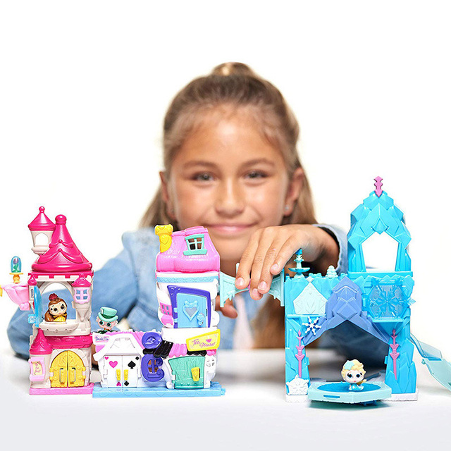 Disney Doorables Frozen Elsa Snow White Belle Princess Castle Luxury Fairytale House Q Dollhouse Kids Toys Girls Christmas Gift 5