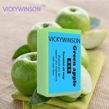 Зеленое яблоко мыло 50г натурального Глута коллаген мыло ручной работы натуральный уход за кожей