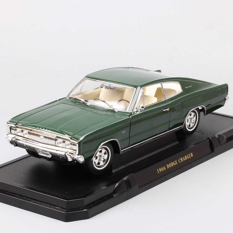 1/18 big vintage scales 1966 Chrysler Dodge Charger B-body fastback muscle cars Diecasts & Toy Vehicles metal auto model of kids image