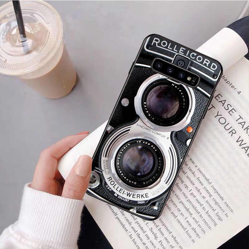 NBDRUICAI Kamera Kassette Bänder Spiel konsole Telefon Fall Abdeckung für Samsung S9 plus S5 S6 rand plus S7 rand S8 plus S10 E S10 plus
