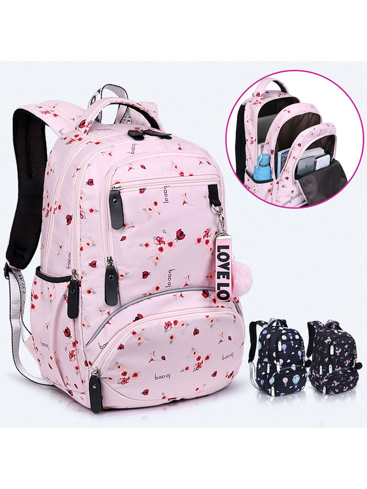 Book-Bags Schoolbag Waterproof Bagpack Printed Teenage Girls Large Kids Student Cute