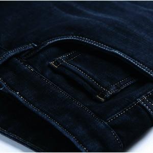 Image 5 - 120 Cm Mens ג ינס חורף בתוספת קטיפה ג ינס גבוה גברים של מכנסיים למתוח ישר גבוהה ארוך אורך מכנסיים ארוך גרסה חם מקרית