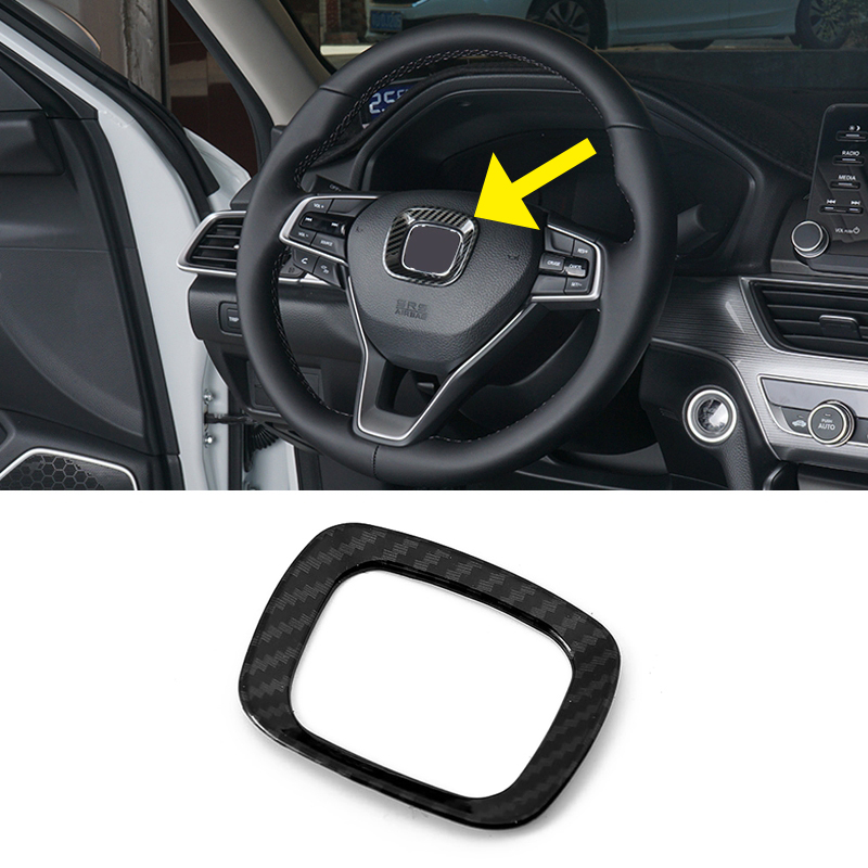 Accessories Carbon ABS Interior Steering Wheel Cover Trim for Honda Accord 2018