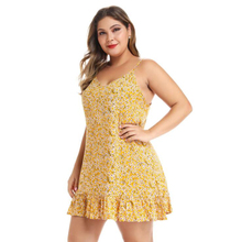 Phi Star Brand European American Womens Halter Ruffled Sling Dress Floral Holiday Plus Size