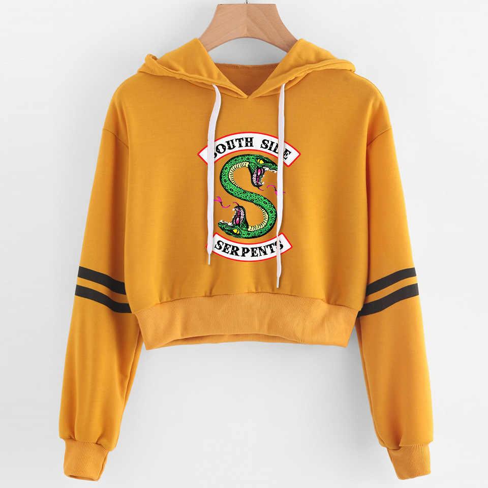 Women Print Riverdale Hoodie Sweatshirt Long Sleeve Harajuku hoodies women Crop Top Shirt Pullovers Clothes