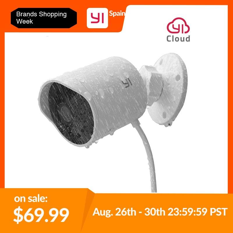 YI Nuvem Cam IP Sem Fio da Câmera de Segurança Ao Ar Livre 1080p resolução Night Vision Sistema de Vigilância de Segurança À Prova D' Água Branco