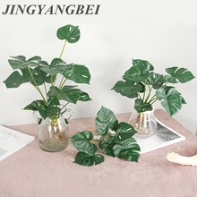 Fake-Flowers Leaves Balcony Artificial-Plants Wedding-Party-Decoration Green Home Garden