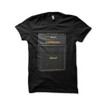 Camiseta de hombre Marshall AMI vintage en negro, camiseta de mujer