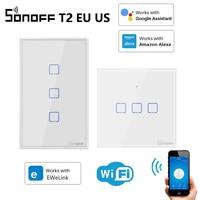SONOFF Switch T2 EU UK US TX WiFi Smart Switch Smart Home Control Via Alexa And Google Assistant EWeLink Interruptor Wifi Sonoff