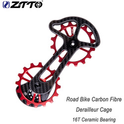 ZTTO carbon fiber ceramic bearing rear dial large guide wheel rear dialing system 16T positive and negative teeth