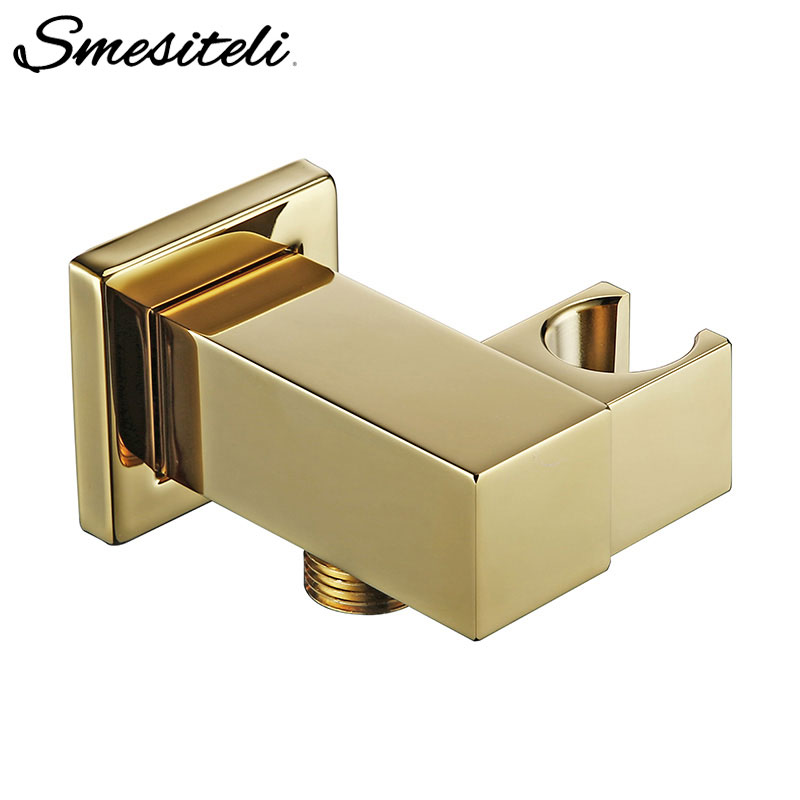 Smesiteli Handheld Shower Head Bracket Gold Small Portable Wall-Mounted Polished Brass For Bathroom Hardware