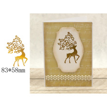 Hot-selling Christmas Elk Beautiful Elegant Hot Foil Plates for Scrapbooking DIY Paper Cards Crafts New 2019