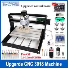 Mini Machine CNC Pro GRBL, Machine 3018 3 axes, fraiseuse pcb, routeur à bois, gravure Laser avec hors ligne, bricolage, mise à niveau cnc Pro GRBL