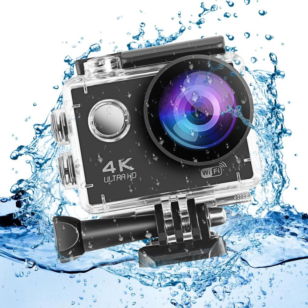 Ultra HD 1080P 4K Action Camera WiFi 2.0 inches LCD Screen 170 Lens Waterproof Sports Camera Outdoor Diving Bicycle Camcorder