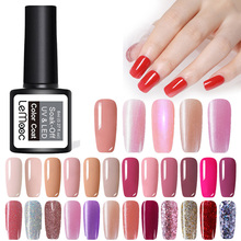 цены 229 colors Gel Nail Polish 8ml Soak Off Base Top Matte Coat Manicure UV Gel Varnish Semi Permanent Hybrid Nails Art White Gel