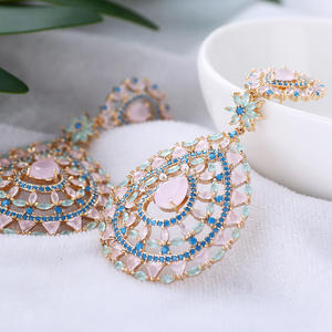 Image 3 - Hollow kolczyki w kształcie kropli wody moda kobiety wesele lub imprezę 925 biżuteria srebrny Pin AAA CZ kamień ręcznie XIUMEIYIZU marki