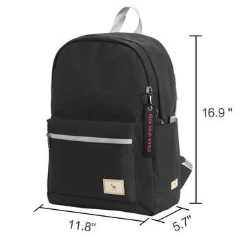 Oiwas Casual Shoulder Bag Female College Students Backpack Middle School Student Fashion Women\'s Lightweight Male Teens Backpack