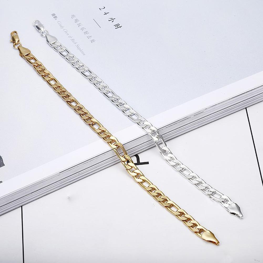 2021 Модный Блестящий браслет-цепочка с рельефными деталями для вечерние леди элегантные открытые стальные уличные ювелирные изделия X8J1