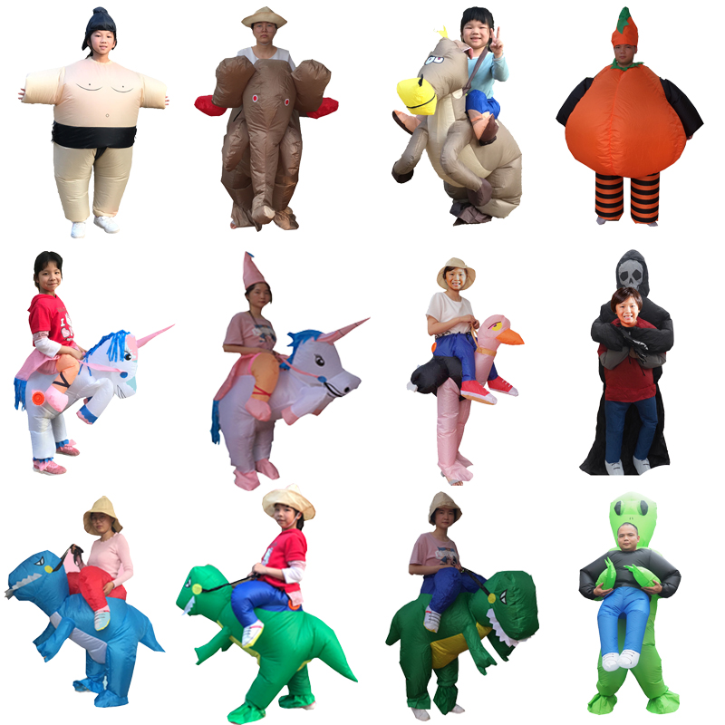 Halloween Alien Dinosaur Costume For Men Kids Inflatable Willy Adult Costumes Fancy Dress Penis Sexy Anime Suit Disfraces Adulto