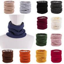 цена на Plus velvet knitted scarf masks couple suit men and women outdoor warm solid color autumn and winter goose down wild scarf