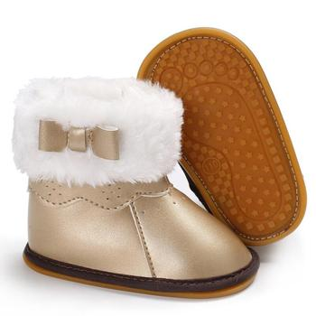 fashion 1pair winter warm waterproof snow boots comfortable children shoes kid boy girl non slip cotton padde boots New Russia Fur Children Winter Boots for Toddler Girl Snow Boots Warm Plush Baby Boys Boot Mid-calf Suede Fashion Non-slip Shoes