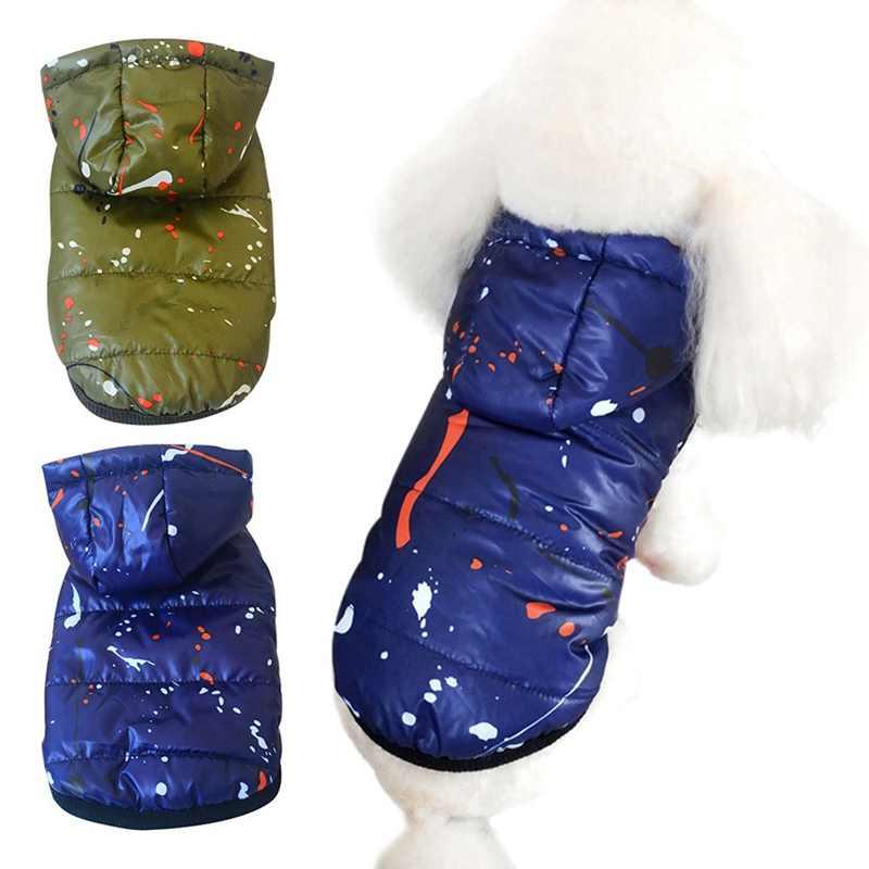 Pet Cani Vestiti Caldi Con Cappuccio Costume Ispessimento Impermeabile Sci Cappotto Per Cani di Piccola Taglia Media Giacca di Felpa