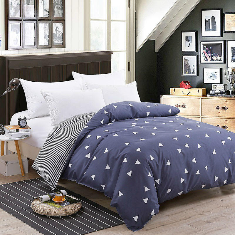 Bonenjoy 1 pc Duvet Cover Single Size Bed Cover for Adults Geometric Pattern Comforter Cover Queen Size Quilt Covers King