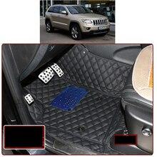 цена на lsrtw2017 leather car floor mat for jeep grand cherokee 2011 2012 2013 2014 2015 2016 2017 2018 2019 wk2 accessorios