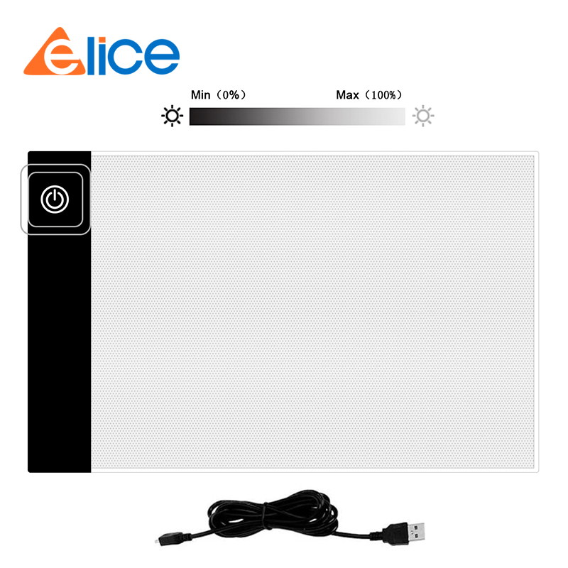 Elice A5 LED Light Pad Artist Drawing Board Art Graphic Tracing Painting Writing Board Pad USB Diamond Embroidery  Tool
