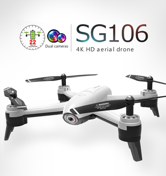 SG106 Drones With Camera HD 4K Dual Camera Optical Flow WiFi Video Helicopter RC Quadcopter For Toys Kid RTF Dron 4k Drone wifi rc quadcopters drones with hd camera flying dron helicopter remote control hexacopter toys copters jjrc h12w