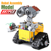 687PCS Robot WALL E Idea Building Block Fit Legoinglys Technic Machine Robot Figures Model Bricks Diy Toy Gift Kids Birthday(China)