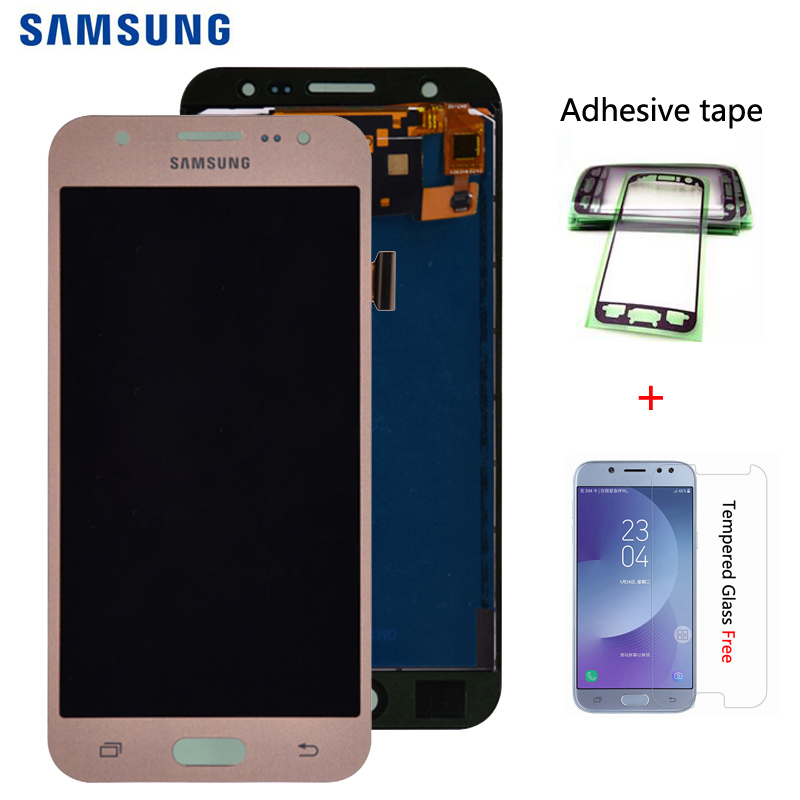 Für <font><b>Samsung</b></font> GALAXY J5 2015 J500 J500FN J500M <font><b>J500H</b></font> <font><b>LCD</b></font> Display mit Touch Screen Digitizer Montage Einstellen Helligkeit image