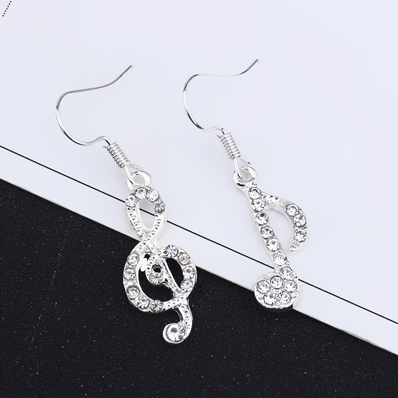 Creative Jewelry Fashion Rhinestone Musical Note and Treble Clef