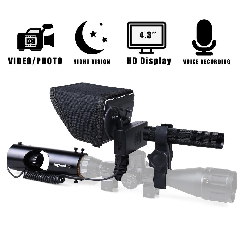 Infrarrojos de visión nocturna alcance cámara de Video láser IR Riflescope caza óptica vista alcance cámara de dispositivo de visión nocturna Sensor Detector infrarrojo de seguridad de puerta automático, Sensor de movimiento, deslizamiento, puerta de garaje, fotocélulas infrarrojas de seguridad de puerta