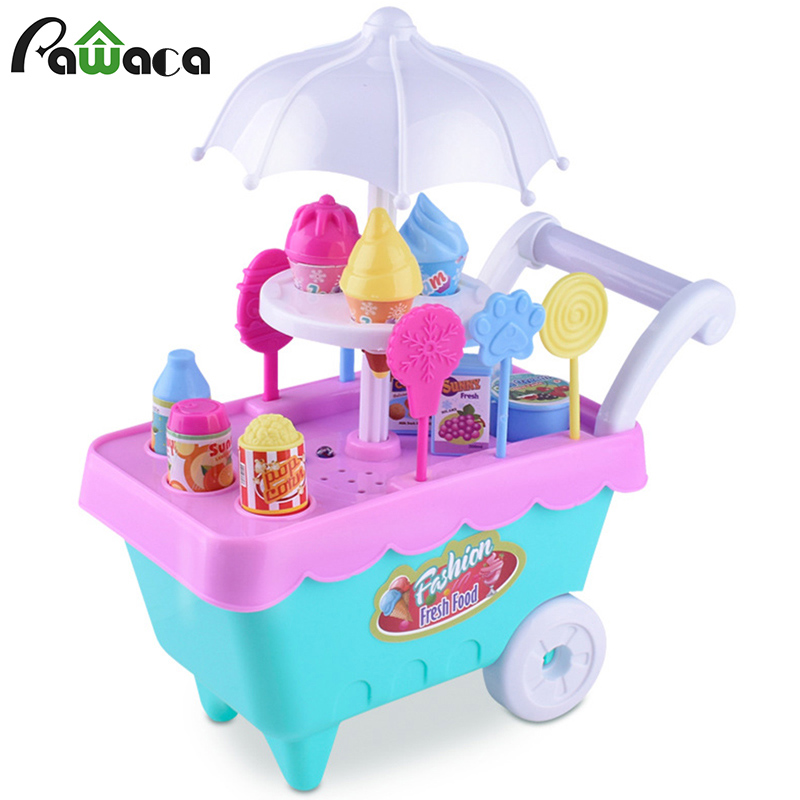 Mini Children's Ice Cream Car House Toys Simulation Candy Ice Cream Car Set , Parent-child Communication Interactive Toys
