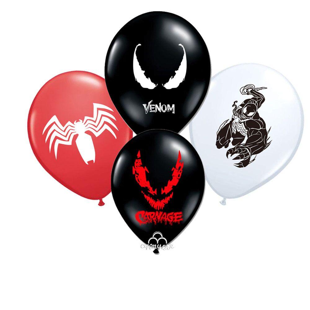 Venom с воздушным шаром 12 шт./лот Hero клипсы для воздушных шаров, Герой Тема вечерние блоки игрушки для детей вечерние Globos