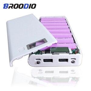 Image 2 - 8*18650 uchwyt baterii podwójny USB Power Bank pojemnik na baterie ładowarka do telefonu komórkowego DIY Shell Case ładowanie Storage Case dla Xiaomi