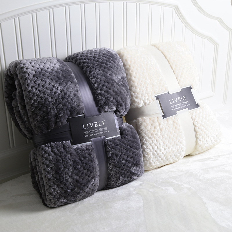 Lively Blanket Summer Mesh Flannel Blanket Manufacturers Currently Available Wholesale Breathable Pineapple Case Double Blanket