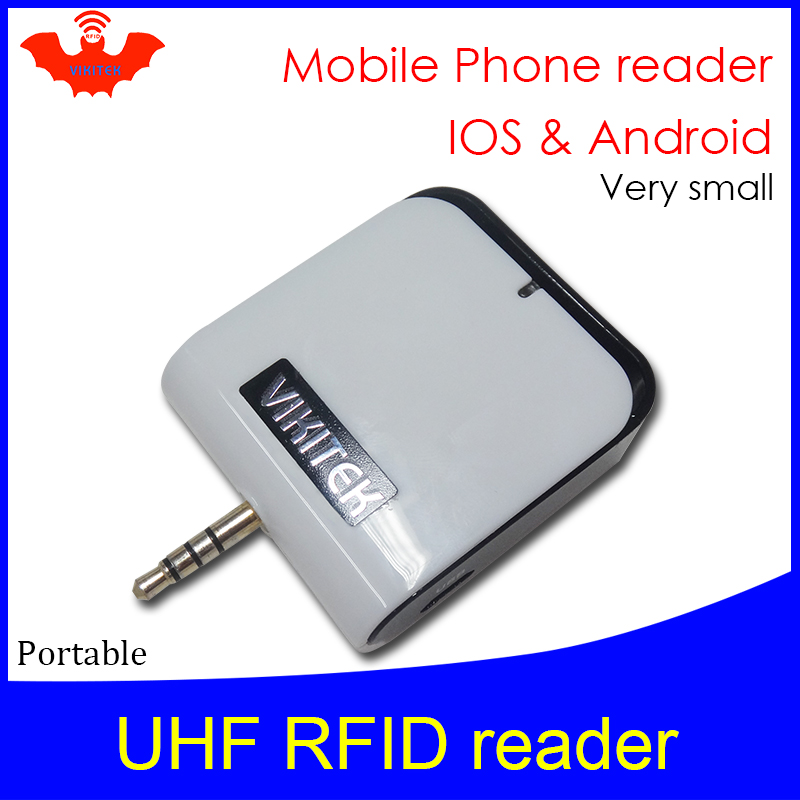 UHF RFID Reader Micro Pocket Portable Mini Reader VIKITEK VPR01 Plug In Mobile Phone Headset Hole Easy Use Small Writer Copier