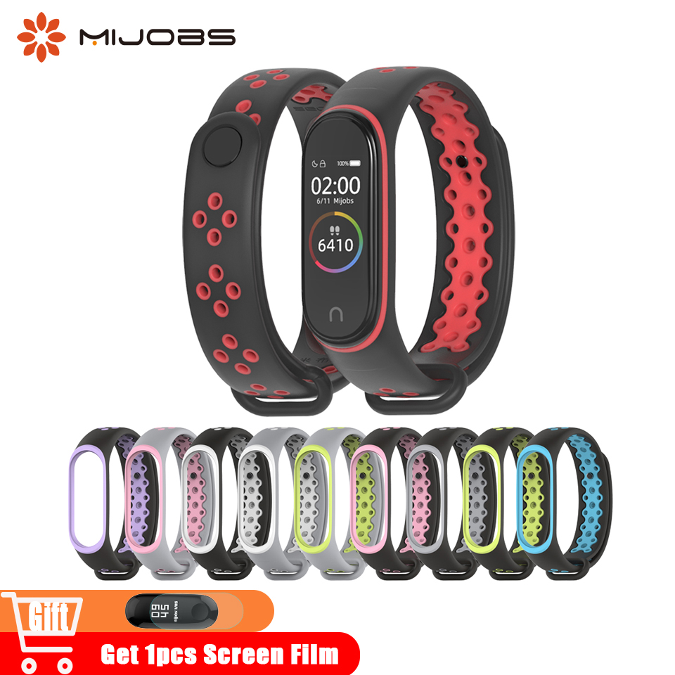 Mi Band 4 Strap Sport Wrist Silicone Strap For Xiaomi Mi Band 3 Smart Watch Bracelet Miband 3 4 Band Accessories Mi4