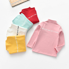 Autumn Winter Baby Girl Tees Long Sleeve Letters Print T-Shirts Kids Tops Casual Blouse Long Sleeve Soft Tops Blouse стоимость