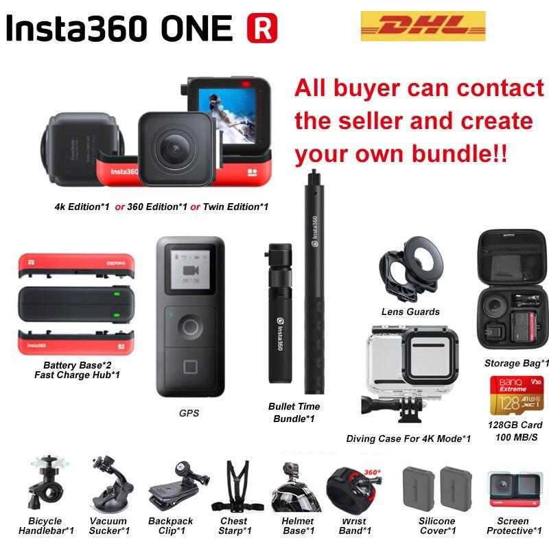 Insta360 ONE R nouvelle caméra d'action sportive insta 360 5.7K 360 4K 1 pouce grand angle étanche caméra vidéo pour iPhone et Android