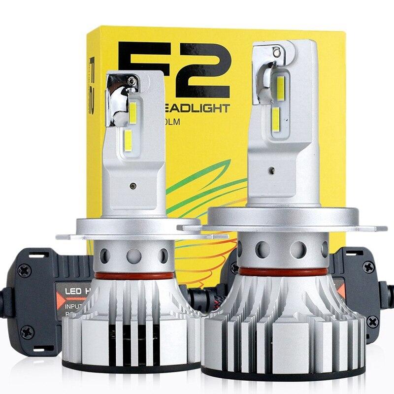 New 2Pcs F2 Car Headlight Led 72W 12000Lm Auto Bulb Head Light Lamp 6500K Led Headlight Bulbs