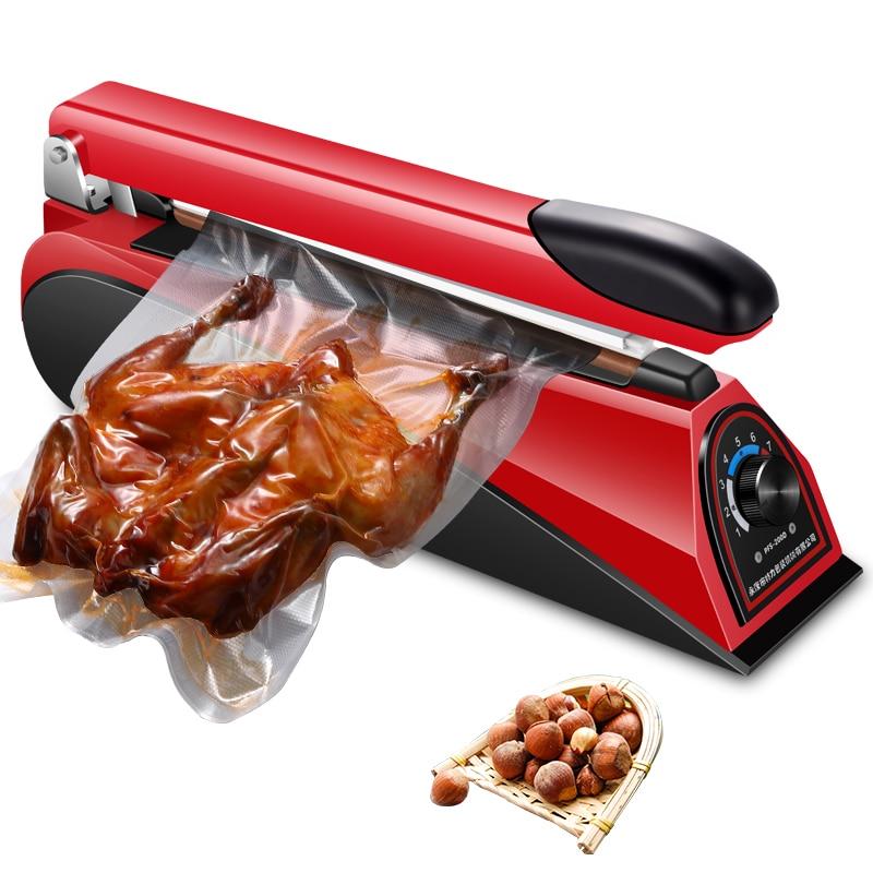 Image 3 - 220V 8 Inch Impulse Sealer Heat Sealing Machine Kitchen Food Sealer Vacuum Bag Sealer Bag Packing Tools Eu Plug  Portable-in Vacuum Food Sealers from Home Appliances